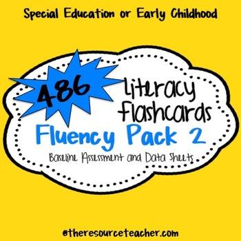 Fluency Pack 2 (486 Literacy Flashcards, Baseline Assessme