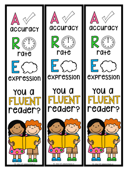 Fluency Pack- self/buddy assessments and posters