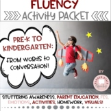 Stuttering Therapy Activity Packet Preschool Early Elementary