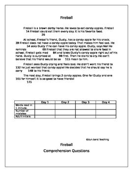 Fluency Passage