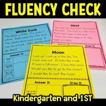 Fluency Passage Kindergarten First Grade