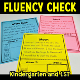 Fluency Passage Kindergarten First Grade