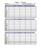 Fluency Passage Data Recording Sheet