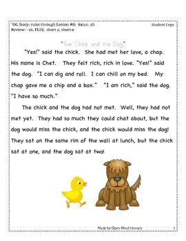 "The Digraph ""Ch"":: Fluency Practice + Running Record"