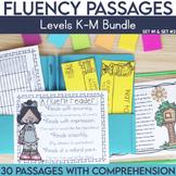 Fluency Passages 2nd Grade Bundle: Set 1 and 2 {Level K-M}