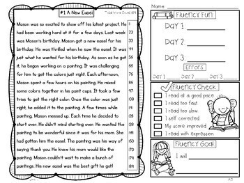 Fluency Passages: 2nd Grade Edition Set 2 {Level K-M}