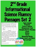 Fluency Passages 2nd Grade Informational Science Set 2- Force and Motion, Matter