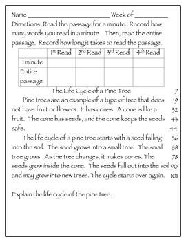 Fluency Passages 2nd Grade Informational Science Set 3- Plants