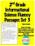 Fluency Passages 2nd Grade Informational Science Set 3- Plants