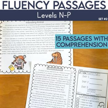 Reading Fluency Passages Third Grade Worksheets Teaching