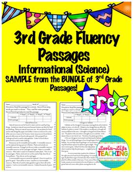Fluency Passages 3rd Grade Informational BUNDLE PREVIEW- F