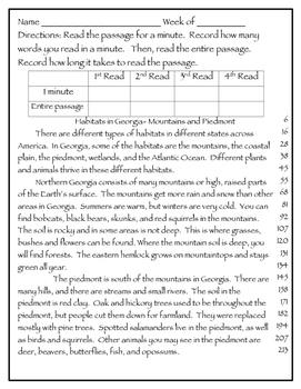 Fluency Passages 3rd Grade Informational Environment, Habitats Fluency Worksheets Grade 2 Fluency Passages 3rd Grade Informational Environment, Habitats, Conservation,