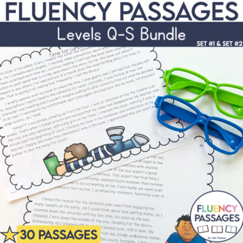 Fluency Passages 4th Grade Bundle: Set 1 and 2 {Level Q-S}