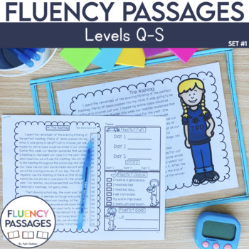 Fluency Passages: 4th Grade Edition Set 1 {Level Q-S}