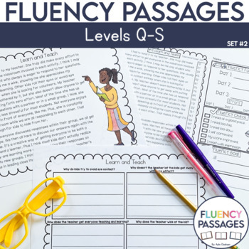 Fluency Passages: 4th Grade Edition Set 2 {Level Q-S}