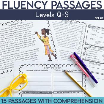 Fluency Passages: 4th Grade Edition Set 2 {Level Q-S}