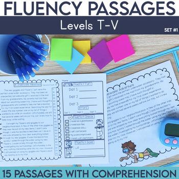 Fluency Passages: 5th Grade Edition Set 1 {Level T-V}
