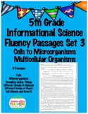 Fluency Passages 5th Grade Informational Science Cells to Microorganisms