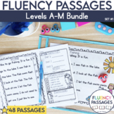 Fluency Passages: Set 1 Bundle- Kindergarten, 1st & 2nd Grade {Level A-M}