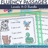 Fluency Passages Kindergarten Bundle: Set 1 and 2 {Level A-D}