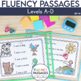 Fluency Passages: Kindergarten Edition Set 1 {Level A-D}