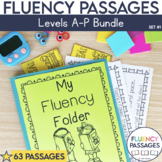 Fluency Passages Set 1 Bundle: Kindergarten, 1st, 2nd & 3rd Grade {Level A-P}