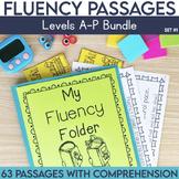 Fluency Passages Set 1 Bundle: Kindergarten, 1st, 2nd & 3rd Grade {Level A-P}
