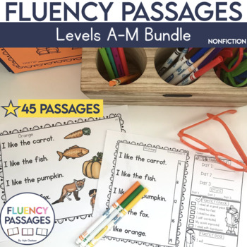 Fluency Passages: Non Fiction Bundle- Kindergarten, 1st & 2nd Grade {Level A-M}
