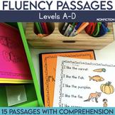 Fluency Passages: Non Fiction Kindergarten Edition {Level A-D}