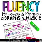 Fluency Passages & Phrases {Digraphs/CVCe/CCVCe & Primer/1st Grade Dolch Words}