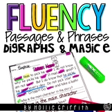 Fluency Passages & Phrases {Digraphs/CVCe/CCVCe & Primer/1st Grade Dolch Words}