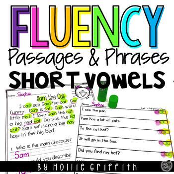 Fluency Passages & Phrases {cvc & pre-primer}