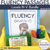 Fluency Passages: Set 1 & 2 Bundle- 3rd, 4th & 5th Grade {Level N-V}