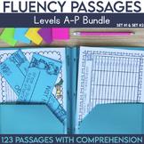 Fluency Passages: Set 1 & 2 Bundle-Kindergarten,1st, 2nd & 3rd Grade {Level A-P}