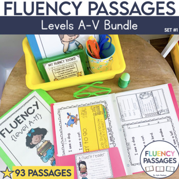 Fluency Passages: Set 1 Bundle- Kindergarten-5th Grade {Level A-V}