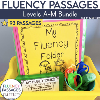 Fluency Passages: Set 1 and 2 Bundle- Kindergarten, 1st & 2nd Grade {Level A-M}