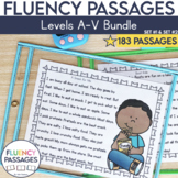 Fluency Passages: Set 1 and Set 2 Bundle- Kindergarten-5th Grade {Level A-V}