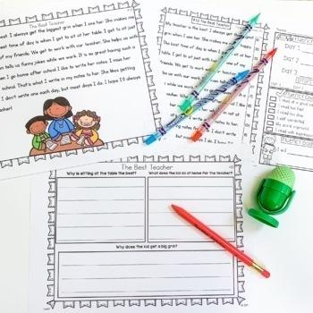 Fluency Passages Set 2 Bundle: Kindergarten, 1st, 2nd & 3rd Grade {Level A-P}