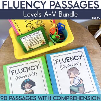 Fluency Passages: Set 2 Bundle- Kindergarten-5th Grade {Level A-V}
