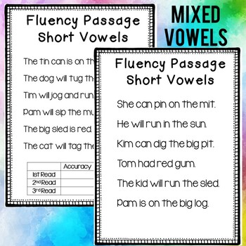 Fluency Passages (Short Vowels)