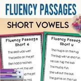 Fluency Passages: CVC words, short vowels, tracking sheets