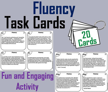 Fluency Passages Task Cards 3rd 4th 5th 6th Grade Comprehe