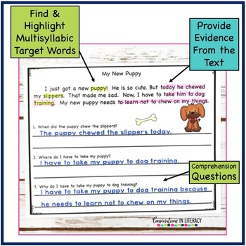 Fluency Passages for Decoding Multisyllabic Words Open Syllable Closed & More-2