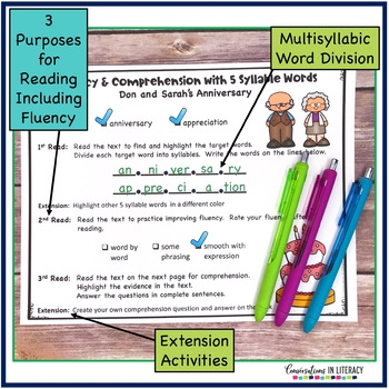 Fluency Passages for Decoding Multisyllabic Words Open Syllable Closed & More-5