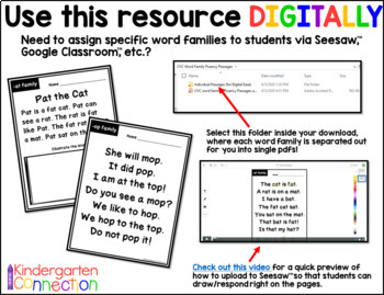 Fluency Passages for Early Readers - CVC Word Families