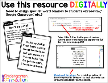 Fluency Passages for Early Readers - CVCe Word Families
