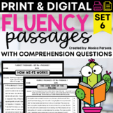 Reading Fluency Passages and Comprehension Questions - Set 6