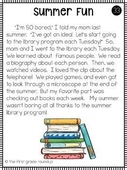 Fluency Passages for Second Grade
