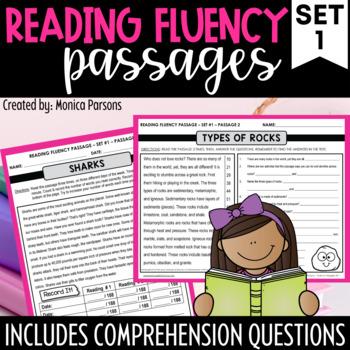 Fluency Passages for Grades 3 - 5: Set 1 {Nonfiction}