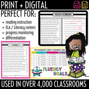 Fluency Passages for Grades 3 - 6: Set 1 {Nonfiction}